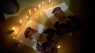 Posters of Lt Moaz al-Kasasbeh, 31 Jan