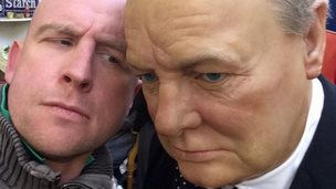 Sir Winston Churchill selfie