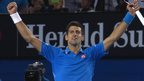 The moment Novak Djokovic beats Andy Murray