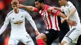 Southampton against Swansea action