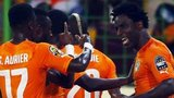 Wilfried Bony celebrates his first goal