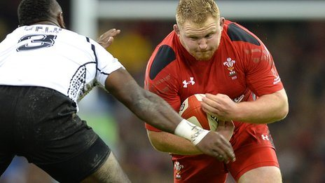 Samson Lee on the attack for Wales