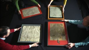 The four 1215 Magna Cartas