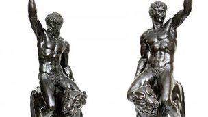 Bronze sculptures, possibly Michaelangelo, Fitzwilliam Museum, Cambridge