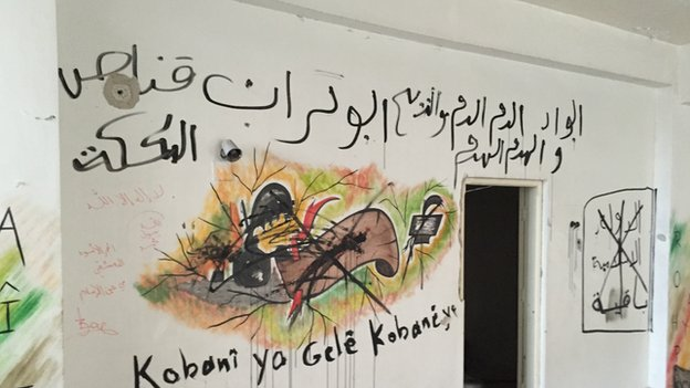 Graffiti in Kobane (January 2015)