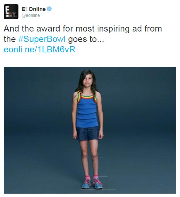 A still from the #LikeAGirl advert