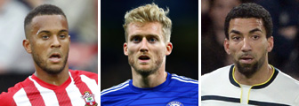 Ryan Bertrand, Andre Schurrle and Aaron Lennon