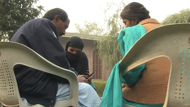 The husband and daughters of Asia Bibi