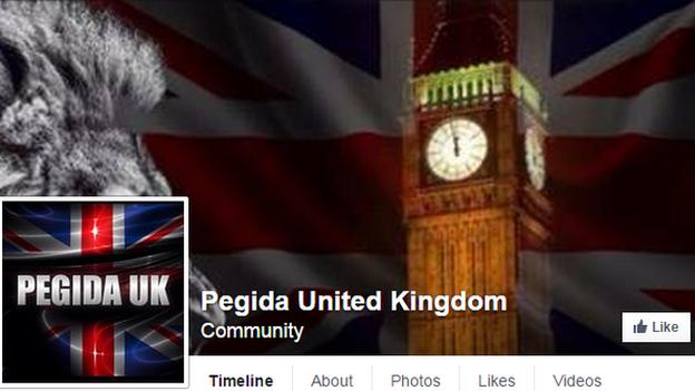 Pegida UK Facebook page