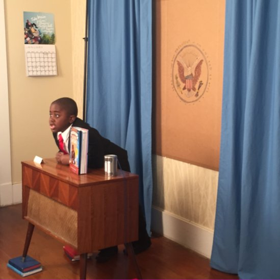 Kid President filming