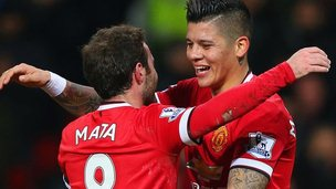 Marcos Rojo and Juan Mata