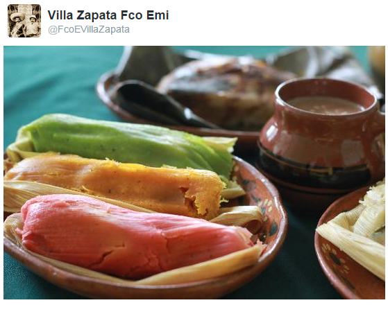 Tamale fan @FcoEVillaZapata shared this photo of the traditional dish
