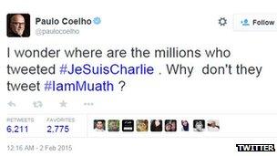 Paulo Coelho tweet