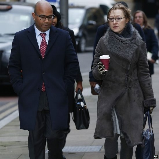 Dr Dhanuson Dharmasena arrives at Southwark Crown Court