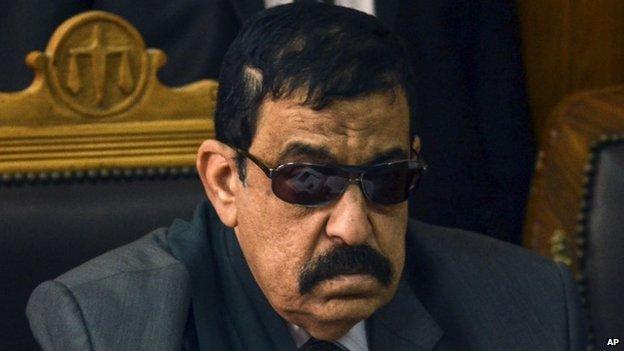 El juez Mohammed Nagy Shehata fue quien dictó la sentencia de los 230 protestantes. - AFP