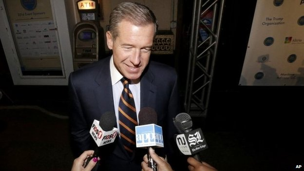 Television journalist Brian Williams arrives at the Asbury Park Convention Hall during red carpet arrivals prior to the New Jersey Hall of Fame inductions, in Asbury Park, N.J 13 November 2014