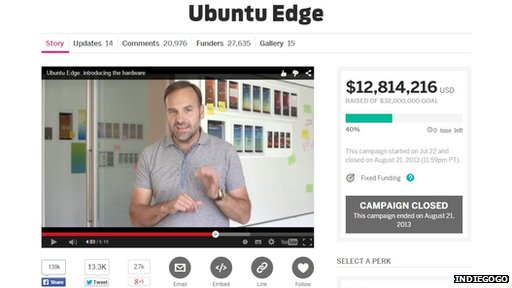 Ubuntu phone on Indiegogo