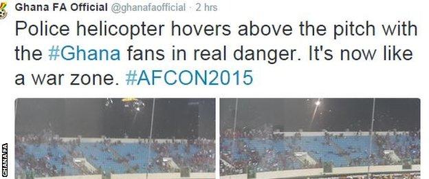 Ghana FA tweet