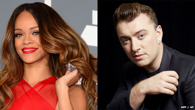 Rihanna and Sam Smith