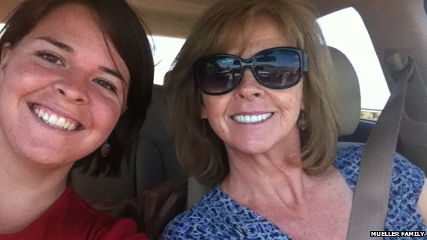 Kayla Jean Mueller and her mother Marsha