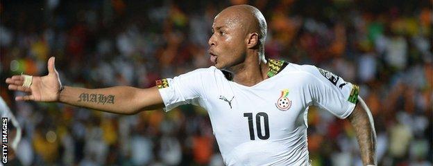 Ghana midfielder Andre Ayew