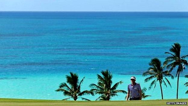 Bermuda golf course view
