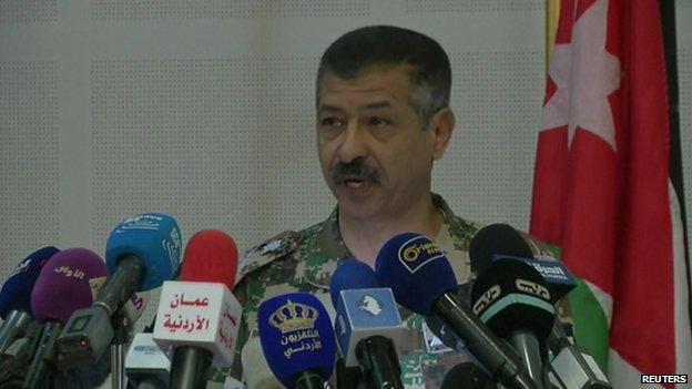 Gen Jbour briefing the media