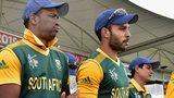 South Africa's Vernon Philander, Farhaan Behardien and Quinton de Kock