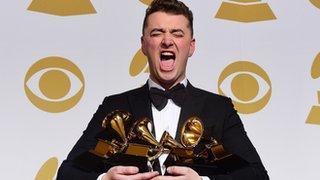 BBC News - Grammy Awards: Sam Smith wins four prizes