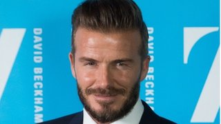 BBC News - David Beckham on how fame has helped his charity work