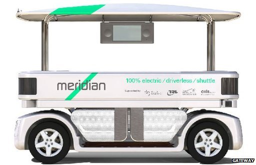Aautomated passenger shuttle vehicle