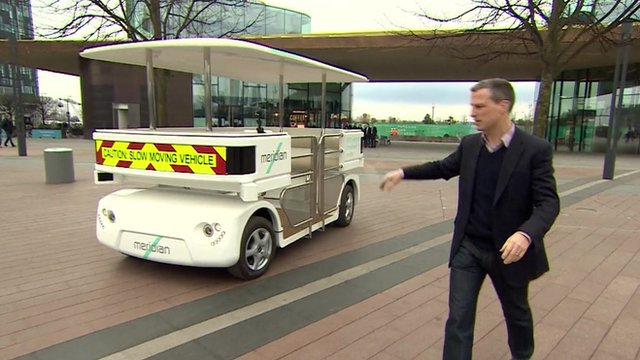 Richard Westcott explains how the cars avoid hitting people