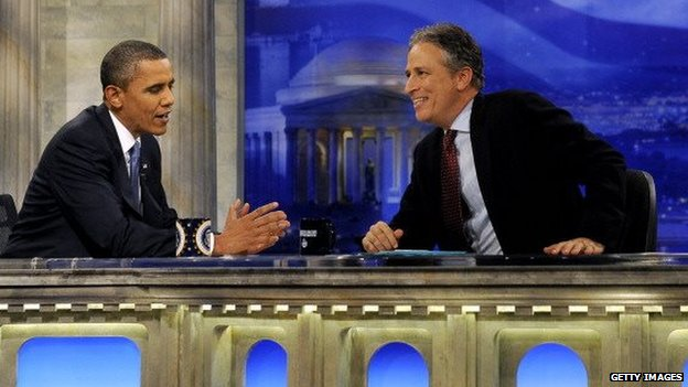 John Stewart interviews President Barack Obama in 2010
