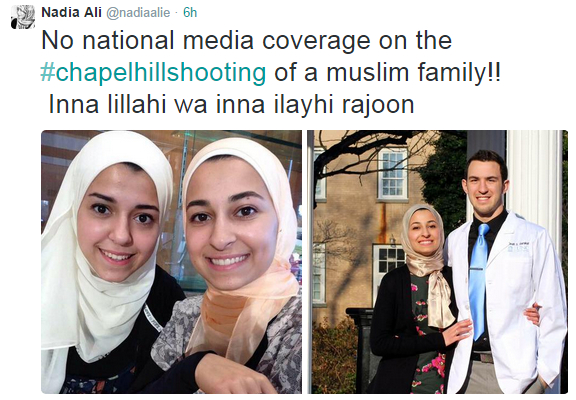 """No national media coverage"" says tweet, showing pictures of shooting victims"
