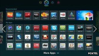 Foxtel on Samsung mart TV