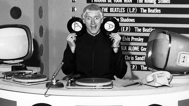 Jimmy Savile on Top of the Pops in 1964