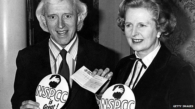 Jimmy Savile and Margaret Thatcher in 1980