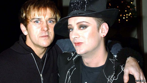 Steve Strange and Boy George in 2001