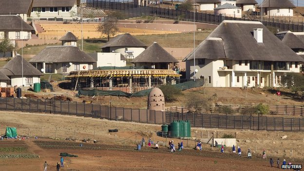The view of the Nkandla home of President Zuma in Nkandla