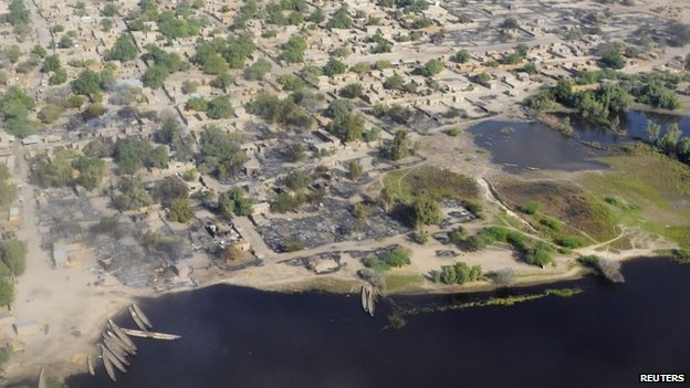 The village of Ngouboua after the first attack by Boko Haram on Chadian soil, 13 February 2015