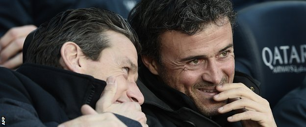 Luis Enrique (left)