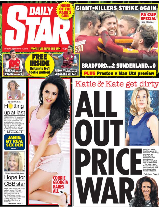 The sun paper price
