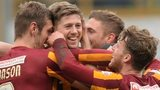 Bradford celebrate during the FA Cup win over Sunderland