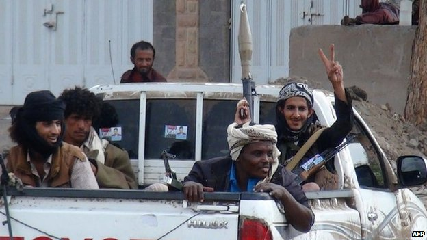 Members of the Popular Resistance Committees (PRC) in Aden, Yemen (16 February 2015)