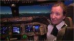 Helen Macnamara in a cockpit