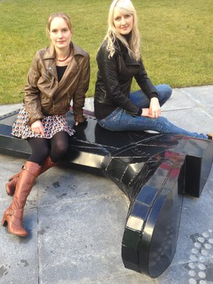 Welly boot sculpture