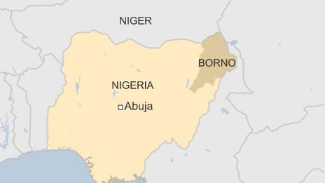 BBC Map of Borno State in Nigeria