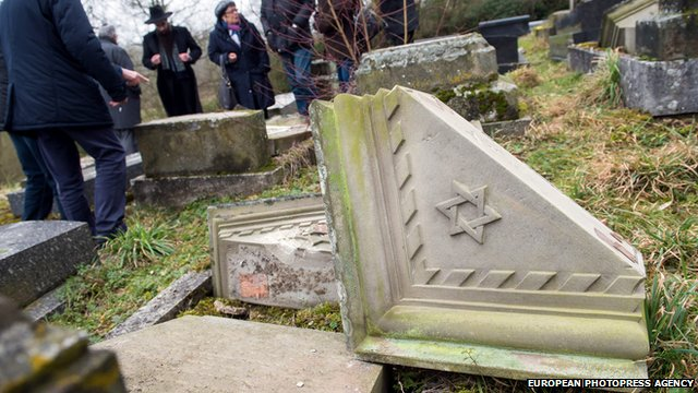 The Jewish cemetery where hundreds of graves were desecrated in Sarre-Union on 17 February 2015