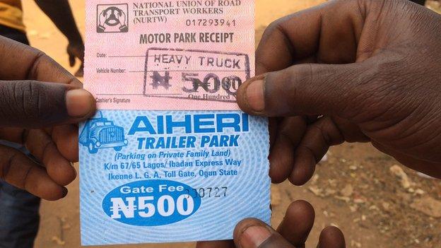 A ticket for Ogbere Ticket Park in Ogun state, Nigeria