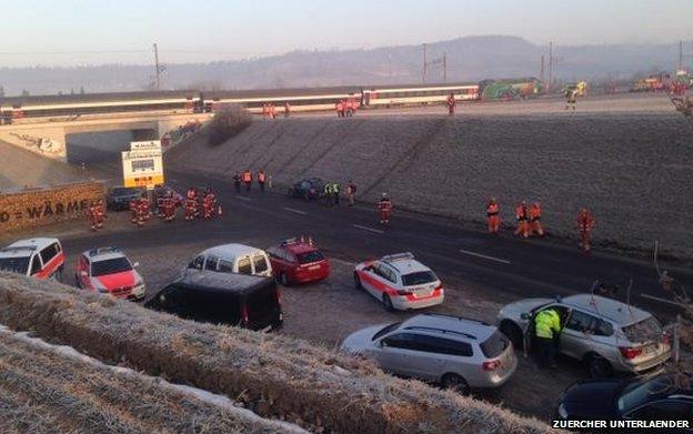 The crash site at Rafz, Switzerland, 20 February (image c/o Zuercher Unterlaender)